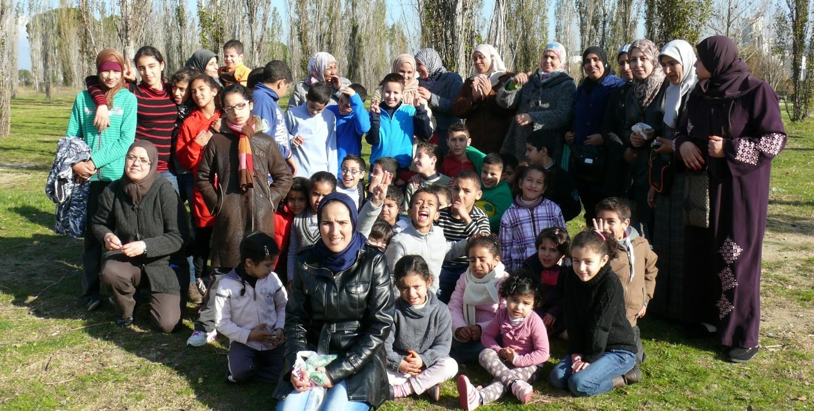 Los niños de la escuela de árabe de Montmeló hacen una excursión