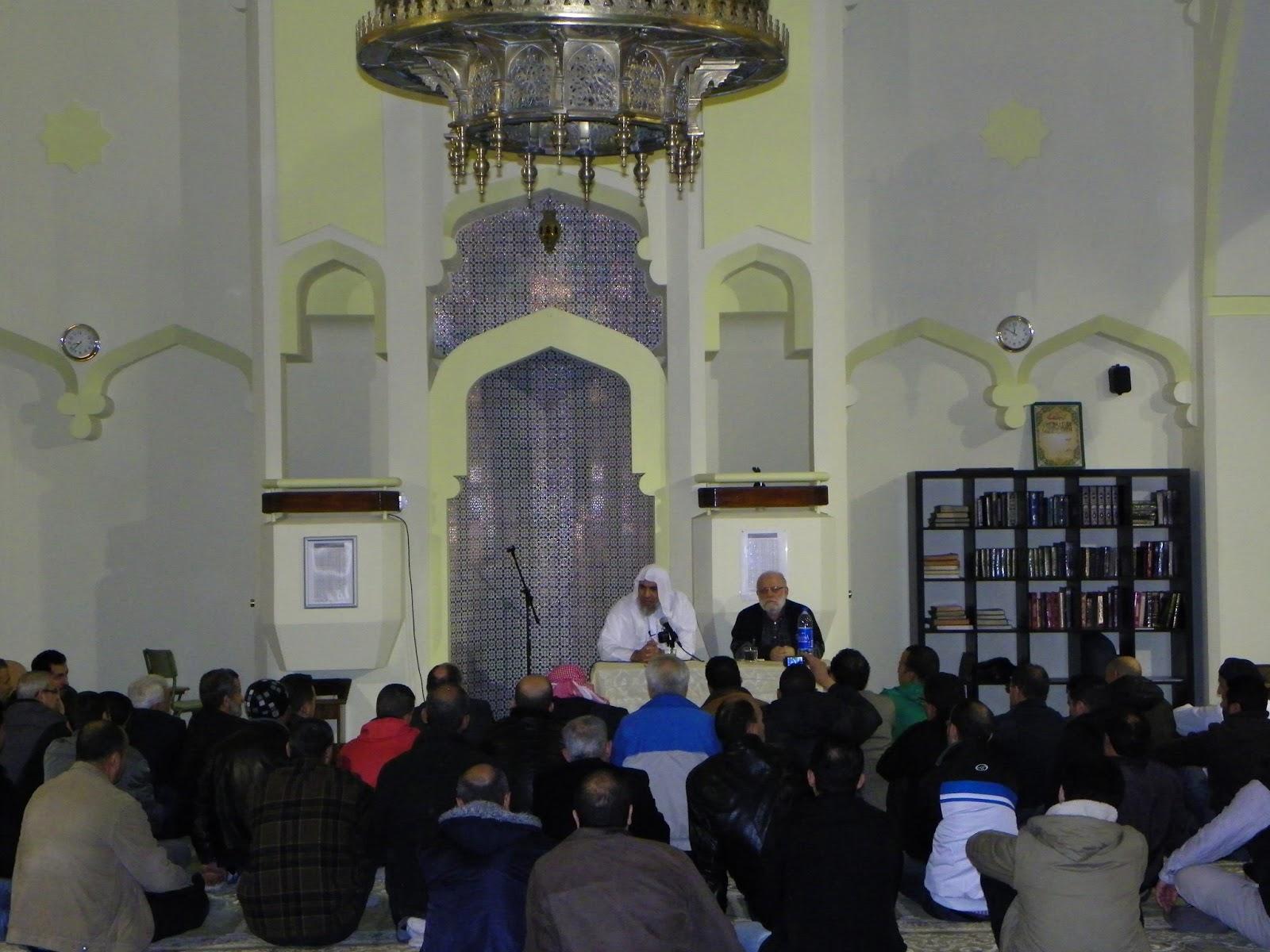 الشيخ عبد السلام البسيوني في مسجد مدريد المركزي
