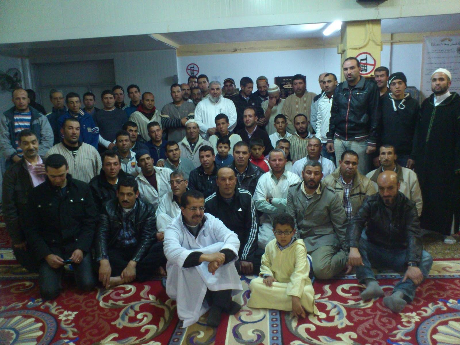 Con los fieles en la mezquita de Fraga