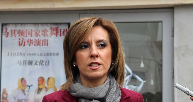 La Ministra de Cultura de la Republica de Macedonia, Elizabeta Kancheska Milevska
