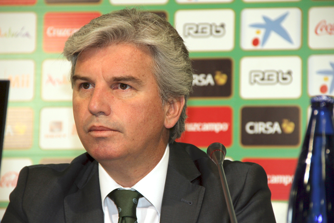 Miguel Guillén Presidente del Real Betis Balompié