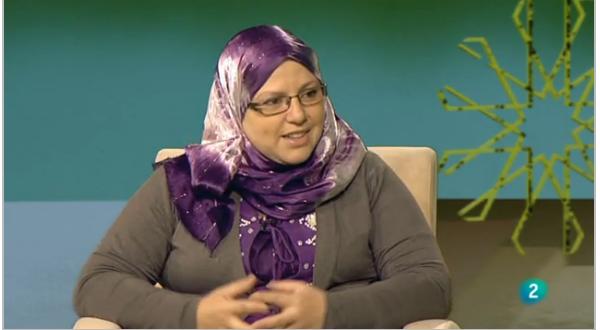 Laila Harkassi Sánchez , profesor a de religión islámica en  la escuela de la Mezquita Central de Madrid