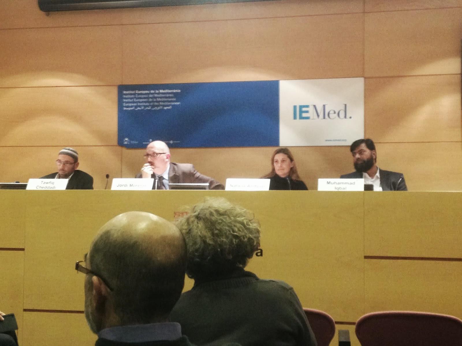 """la intervención de Taoufik Cheddadi en las jornadas de""""  Islam transnacional """" en Barcelona"""