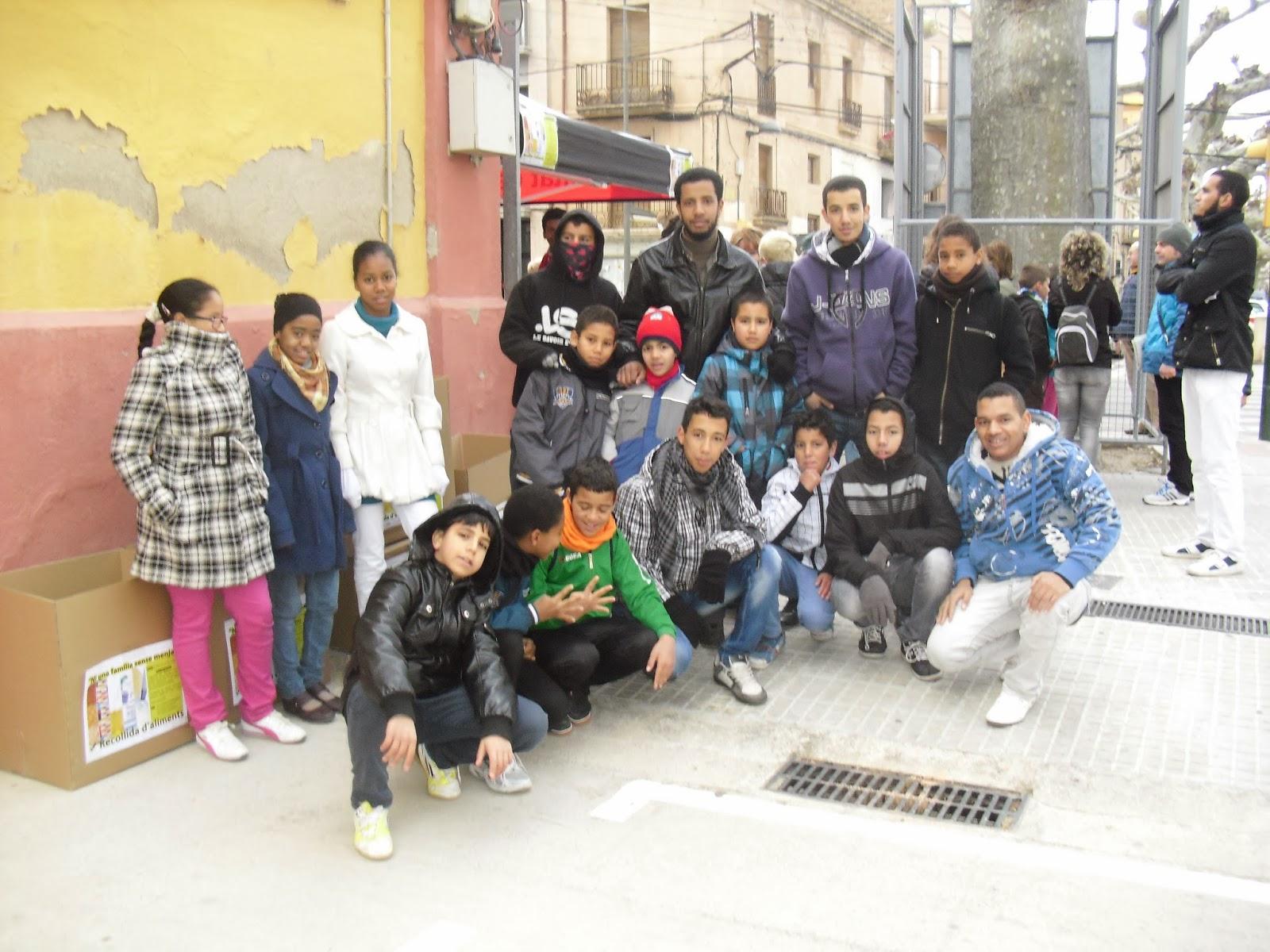 Los jóvenes de la comunidad islámica de Roquetes