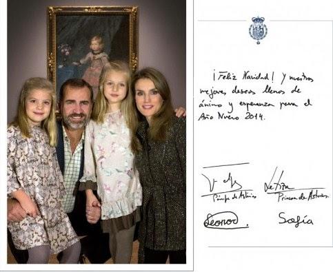 Felicitación de Navidad de los príncipes de Asturias al presidente de UCIDE