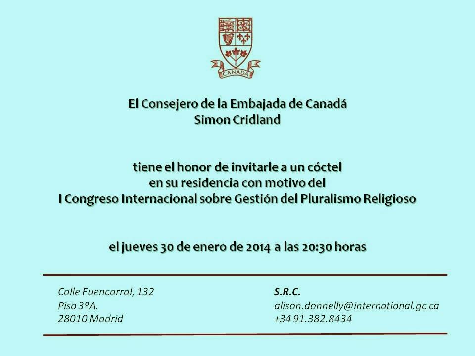 Tatary Invitado por la Embajada de Canadá en Madrid