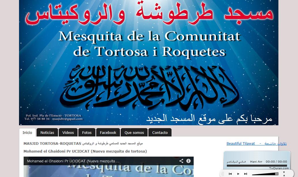 Nueva Página web de las comunidades de Tortosa y Roquetas