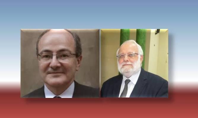 El Secretario General de la Comisión Islámica de España, invitado a la reunión, con el Consejero para Asuntos Religiosos Francés