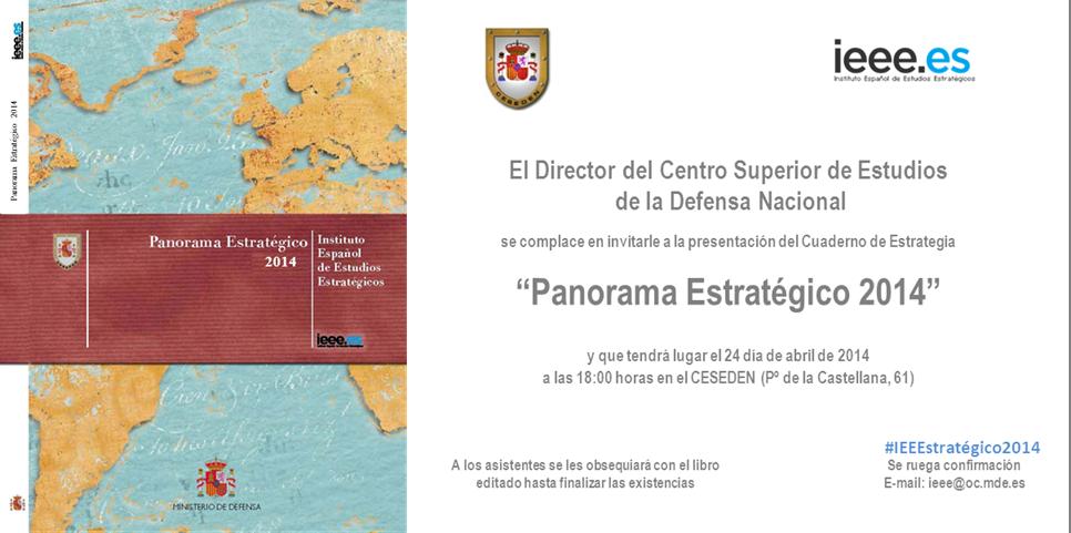 """Invitación a la presentación """"Panorama Estratégico 2014"""""""