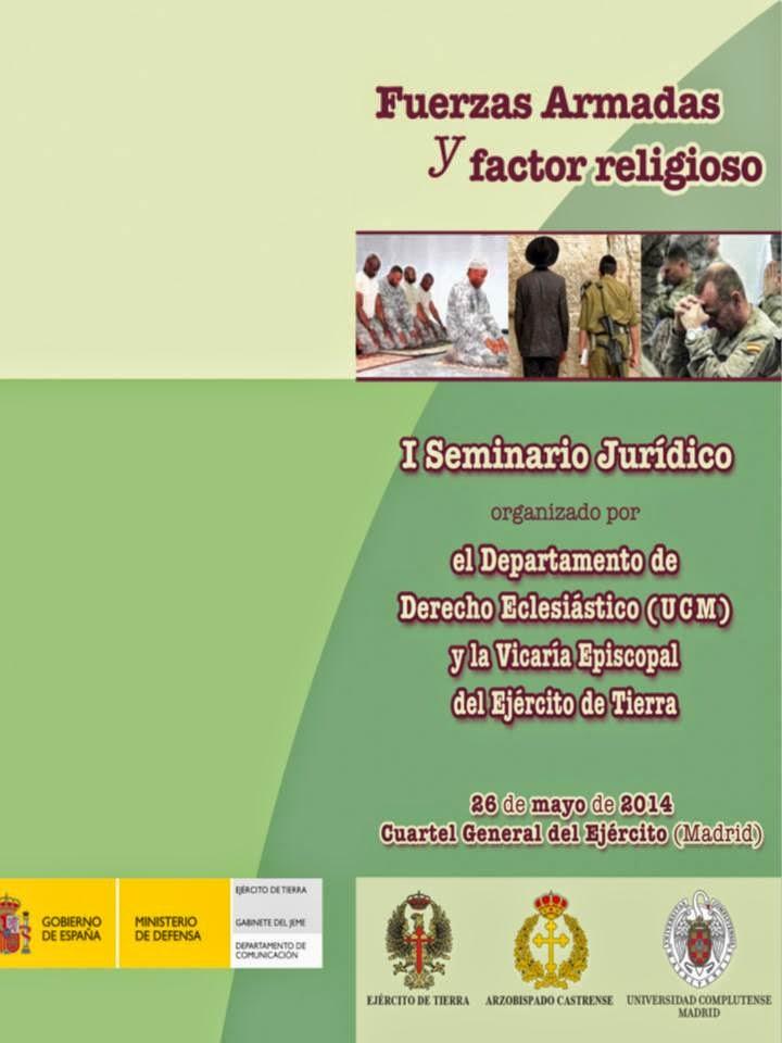 """I Seminario Jurídico """"Fuerzas Armadas y Factor religioso"""""""