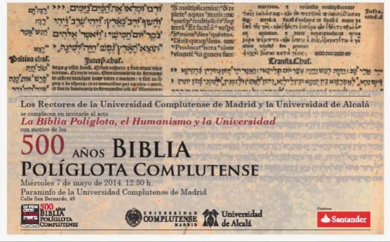 """Tatary invitado al acto """"La Biblia Políglota, el Humanismo y la Universidad"""""""