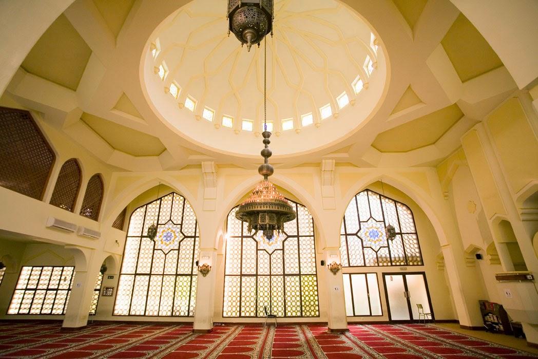 Interior de la Mezquita Central de Madrid ( Barrio de Tatúan)