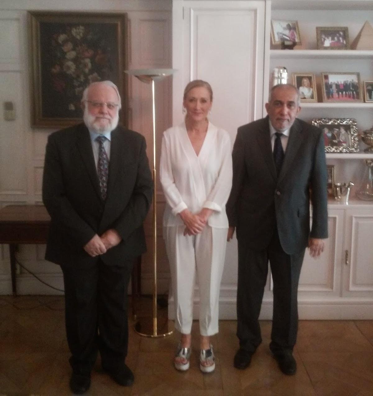 إجتماع مع ممثلة الحكومة في مدريد