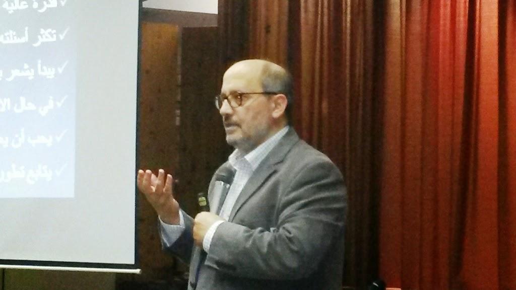 الدكتور مأمون مبيض يلقي محاضرة في مسجد مدريد المركزي
