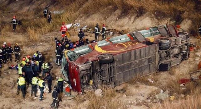 Condolencias por trágico accidente de autobús ocurrido en el término municipal de Cieza