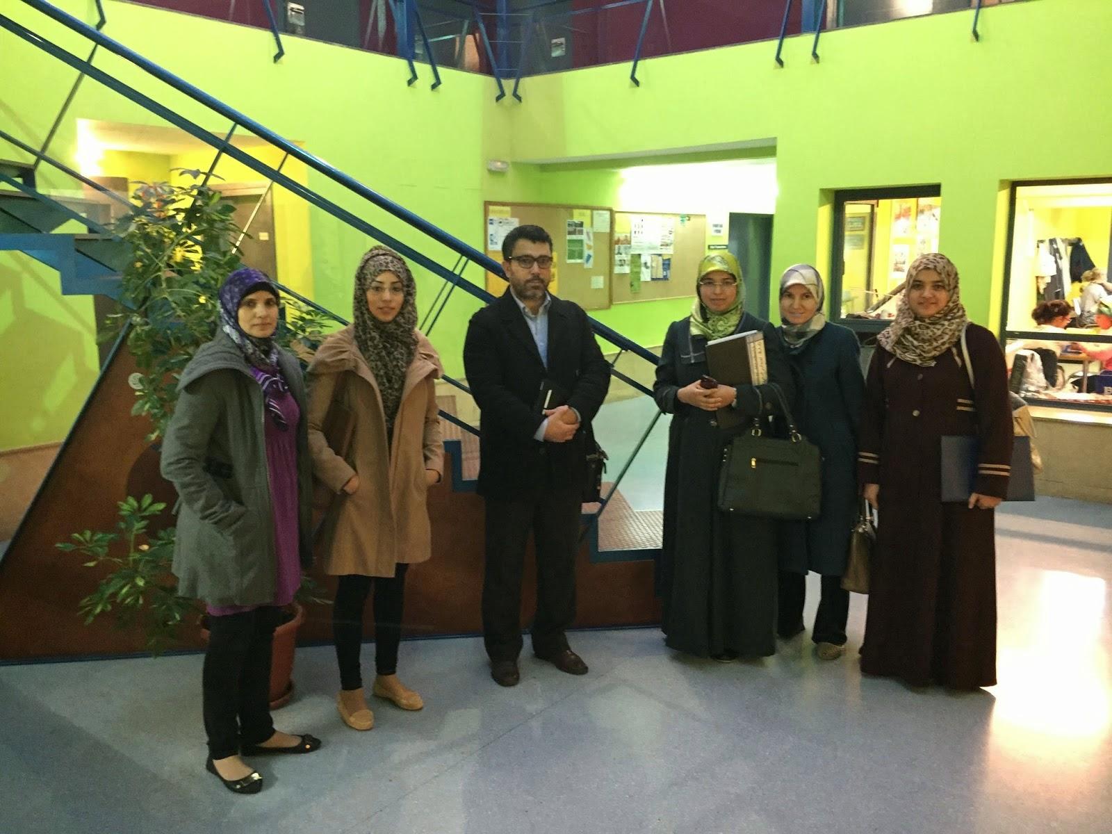 el presidente de UCIDCAT y los miembros de la junta de la Asociación EVA