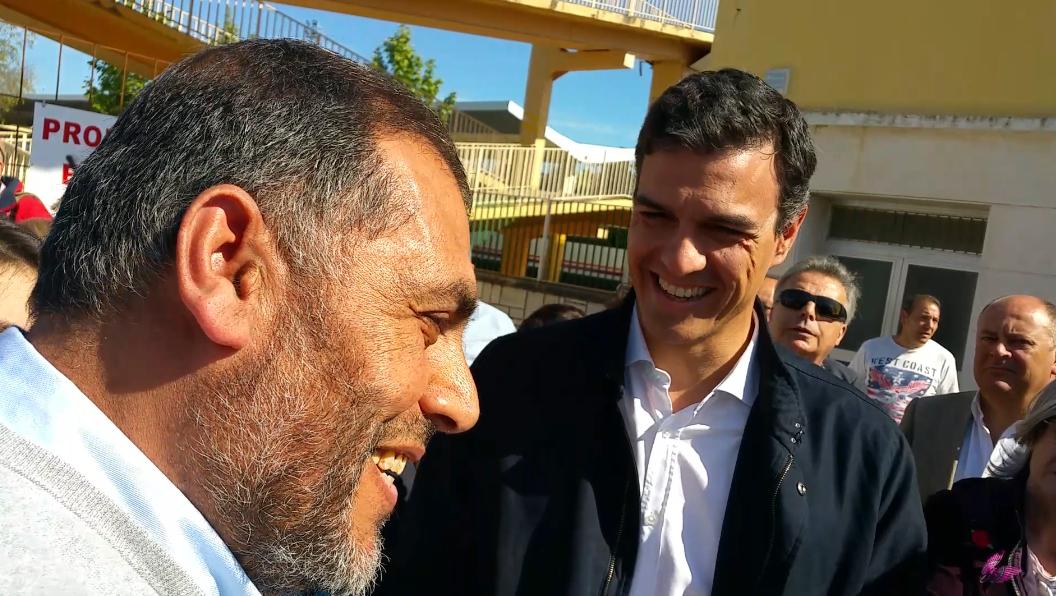 Adel Najjar tuvo momentos de charla con el Candidato del PSOE, Pedro Sánchez
