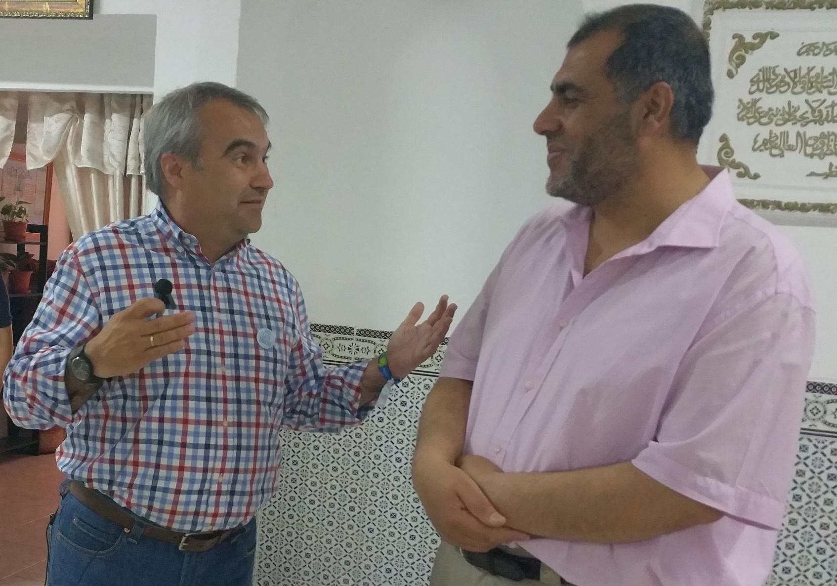El alcalde de Badajoz, Francisco Javier Fragoso visita la Mezquita