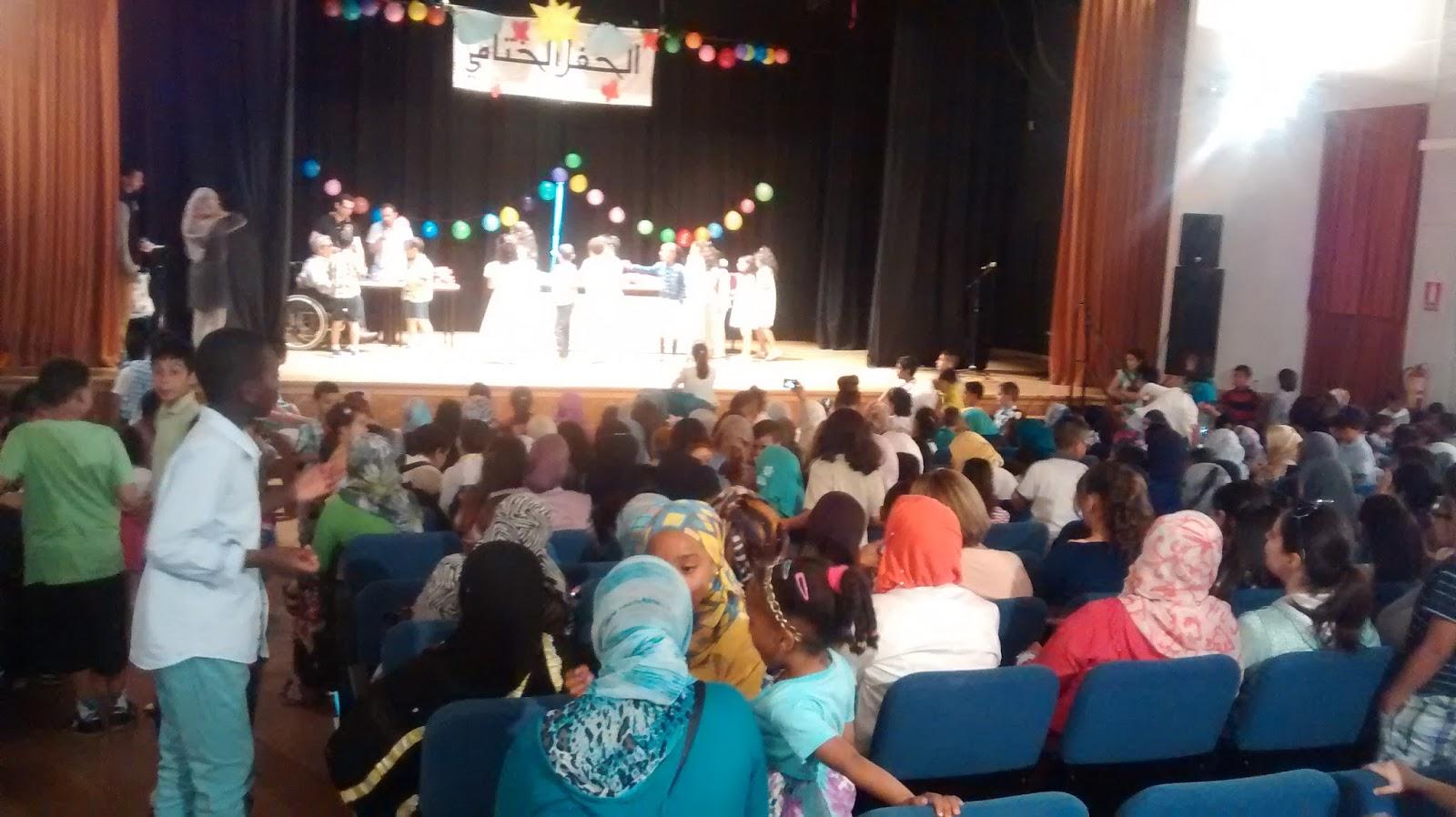 Fiesta de fin de curso de la Escuela árabe islámica de Abul Kasim de Zaragoza-2014-15