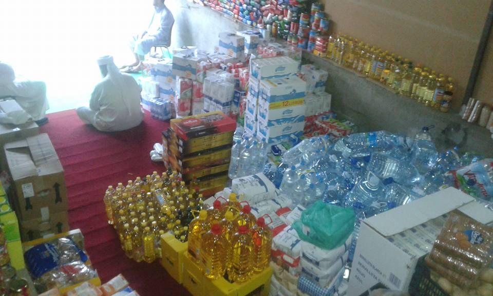 Cestas alimentarias del Ramadán en Terrasa