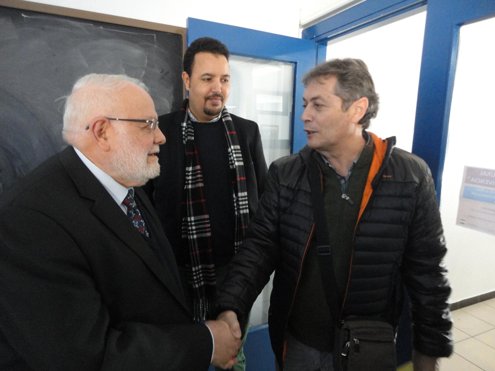 Tatary con el alcalde de Saucedilla ( Cáceres )