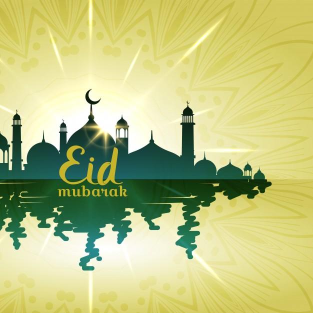 sunny-eid-mubarak-card-with-water_1017-8291